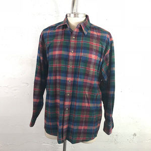 Pendleton 100% Pure Wool Tartan Plaid Button Up XL